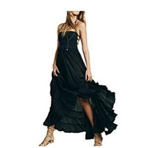 R.Vivimos: Summer Cotton Sexy Blackless Long Dress